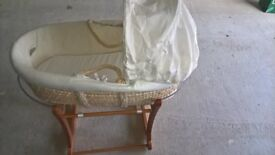 'Loved So Much' Moses Basket along with Stand