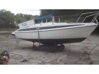 22ft lifting keel Sinbad Seal yacht and road trailer