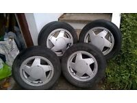 "13"" alloys and tyres"