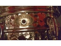 Tama 12 inch Hammered steel snare + case