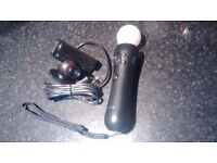Sony Playstation Move Motion Controller + Camera for PS3 PS4 VR Games.