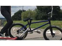 Candy blue federal bmx set up will need new forks and front wheel (great deal)