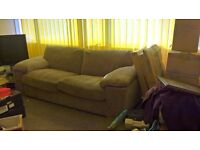 2 x 3 seater seatee's i very good available. FREE TO COLLECTOR. by Sunday 23rd April 2017