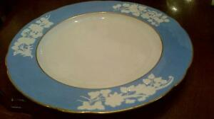 Spode dinner plate and Johnson Bros Indian Tree plate