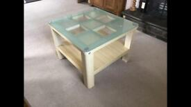 Glass top coffee table for sale