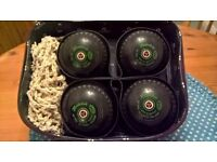 SET OF HENSELITE BOWLS CLASSIC DELUXE IN TAYLOR BOWLS BAG