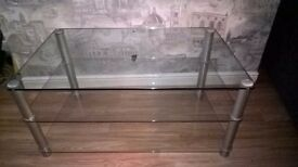 Television stand clear glass