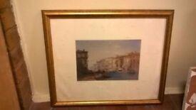Gold leaf framed print of Venice central London bargain