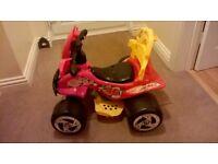 Electric quad ride-on