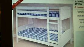 Standard single whit bunk beds