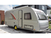 2014 AS NEW LUXURY EURO TOUR CARAVAN FULL OPTIONS with DOOR on RIGHT, MOTOR MOVER & ISABELLA AWNING