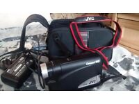 JVC COMPACT VHS VINTAGE CAMCORDER rare with charger battery and case