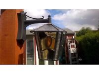 LOVELY LEADED LIGHT WALL LANTERN