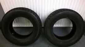 225/70/16 x2 winter tyres only 3 months old