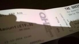 ***Chris Thile Queen's Hall Ticket EDINBURGH 19 MARCH 17***