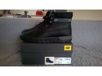 Mens Black Caterpillar Ryker Boots Size 10
