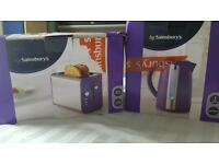 Brand new! Purple kettle and toaster!