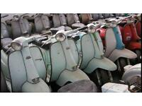 Lambretta and vespas wanted also job lots of spares