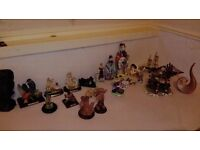 porcelain figurine various italian germany chinese and 2 boats