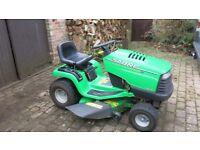 "John Deere Sabre ride-on lawn mower. 42"" side-discharge/ mulching deck. Hydrostatic transmission"
