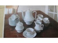 Limoges white porcelain French coffee set