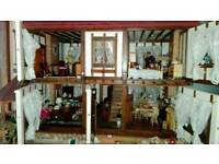 Dolls house and contents
