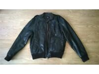 mens rep leather jaket never worn