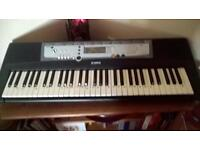 yamaha es17 electric keyboard with stand and learn to play books.