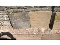 450 x 450 paving slabs buff in colour