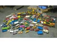Matchbox and corgie cars.