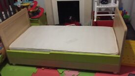 Mothercare Cotbed and Mattress, with chalkboard on side, great condition