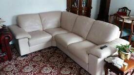 Corner leather sofa and chair £200