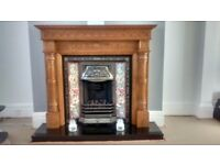 Full gas fire with surround