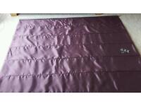 Dunelm purple roman blind with blackout lining. .