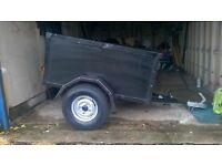 car trailer 4 x 3 nice light well made trailer