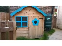 outdoor wooden playhouse with felt roof for sale in Braintree area. Collection only
