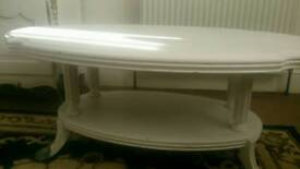 Large heavy shabby chic coffee table,