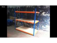 Long span heavy duty shelving