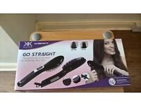 Go straight hair straigtening brush - Brand new in box
