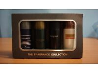 M&S Gift Fragrance Collection body sprays for men Woodspice Harvard Autograph