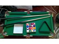 child's 3ft pool table.