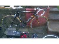 SAB Planet X Carbon Road Racing Bike, including speedometer, 2 helmets and spare tyres