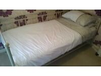 Metal framed single bed plus mattress