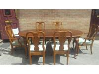 French polish table and chairs