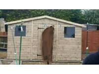 Bargain 12ftx8ft ex display shed quality made timber
