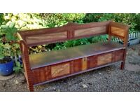 Antique Painted Pine Storage Bench C 1900/1920