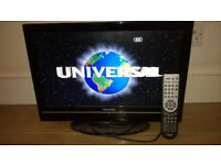 "Toshiba 19"" Digital TV with built-In DVD player"