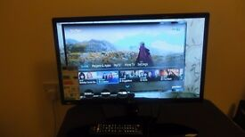 "LG 22"" FULL HD MONITOR TV 1920 X 1080 VGA HDMI SCART USB FREEVIEW"