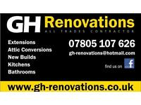 GH Renovations - joiners, builders, extensions, kitchens, bathrooms,