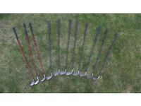 Full set of regular Golf Clubs – graphite shaft irons